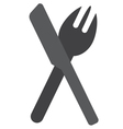 Knife fork icon vector image