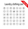 laundry clothing care wash icons set universal vector image vector image