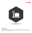 luggage weighing icon vector image