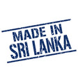 made in sri lanka stamp vector image vector image