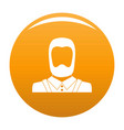 man avatar icon orange vector image