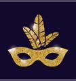 mask carnival festival design vector image