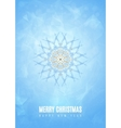merry christmas happy new year fancy blue winter vector image vector image
