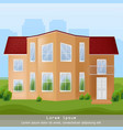 modern architecture facade building vector image vector image