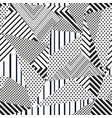 monochrome fabric triangle seamless pattern vector image vector image