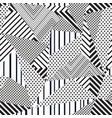 monochrome fabric triangle seamless pattern vector image