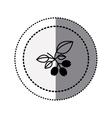 monochrome sticker contour in circular dot line vector image