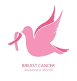 National Breast Cancer Awareness Month Bird vector image vector image