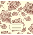 Notebook Cover with hand-drawn Flower Pattern vector image vector image