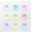 Of Colored Power Button vector image vector image