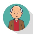 old man character avatar icon vector image vector image
