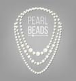 pearl necklace jewel string elegant vector image vector image