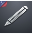 Pencil icon symbol 3D style Trendy modern design vector image