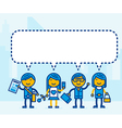 People with speech bubble vector image vector image