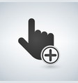 plus add circle add new concept hand cursor icons vector image