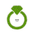 ring made of green grass vector image vector image