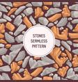 rock stones cartoon flat seamless pattern stones vector image