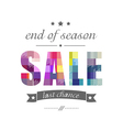 Sale Poster With Banner Ribbon vector image