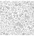 seamless cute cartoon animal background wallpaper vector image
