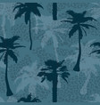 seamless exotic trendy pattern with palm trees and vector image vector image