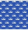 seamless pattern with mountain and clouds vector image vector image