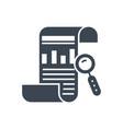 seo report glyph icon vector image