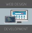 Set of flat design concepts Concept for web design vector image