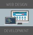 Set of flat design concepts Concept for web design vector image vector image