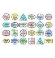 set travel visa stamps vector image