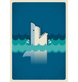 Shark poster background for text vector image vector image