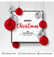 shiny christmas balls and text on light background vector image vector image