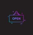 shop board icon design vector image