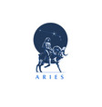 sign of the zodiac aries the girl rides on ram vector image vector image