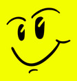 smile draw vector image