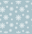 snowflake seamless pattern snow flakes on blue vector image