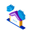 sound acting on residential building isometric vector image vector image