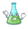 successful science beaker character cartoon vector image vector image