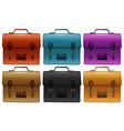suitcases in six different colors vector image vector image