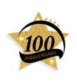 Template Logo 100 Anniversary vector image vector image