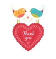 Thank you card with birds vector image vector image