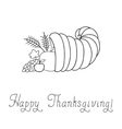 Thanksgiving Day Cornucopia vector image vector image