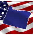 united states oregon on usa flag map vector image