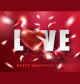 valentine s day lovely greeting card vector image vector image