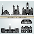 Washington V2 landmarks and monuments vector image vector image