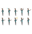young african businessman set vector image