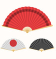 japan folding fan japanese culture symbol hand vector image