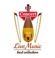Violin with bows Concert live music emblem vector image