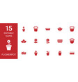 15 flowerpot icons vector image vector image