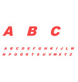 abc a simple red design vector image vector image