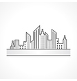Abstract black real estate icon design vector image